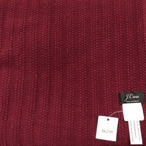 J. Crew everyday cashmere scarf rubbed knit wine